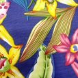 Fabric Land tropical jasmin print cotton fabric purple