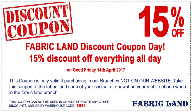 Fabric Land Coupon Day