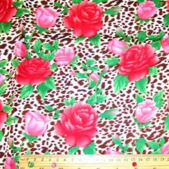 jungle-roses-cream-brown-print-cotton-fabric