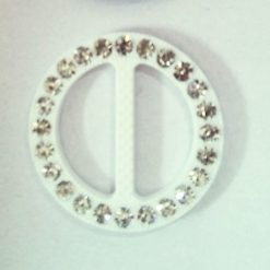 "1 1/2"" Plastic Diamante Round Buckle 25K-088"