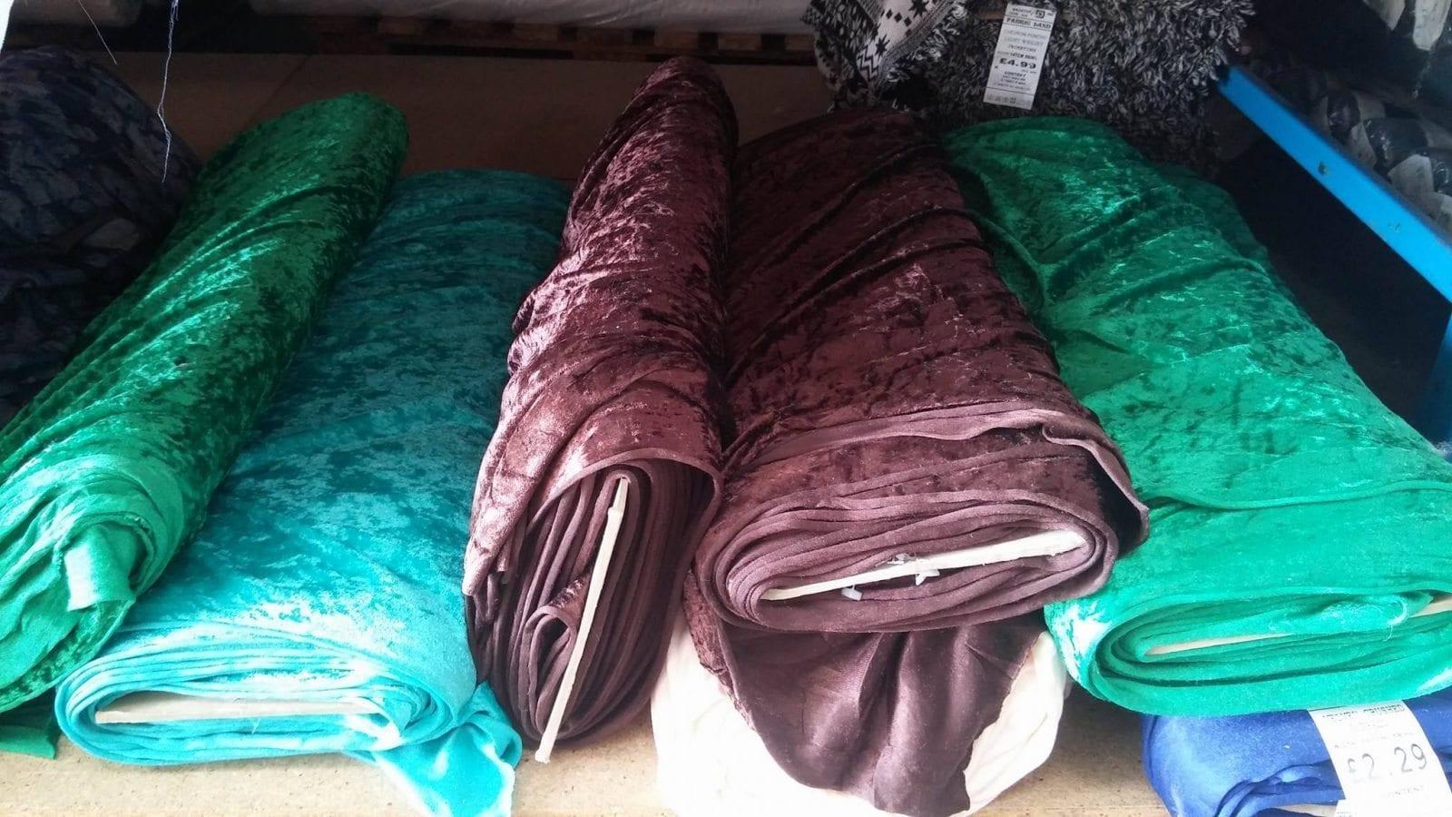 crushed velvet fabric fabric land. Black Bedroom Furniture Sets. Home Design Ideas