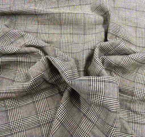 Suiting Fabric Prince of Wales Check