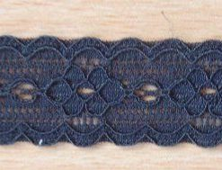 Black Flat Stretch Lace Cherry Lane 2cm