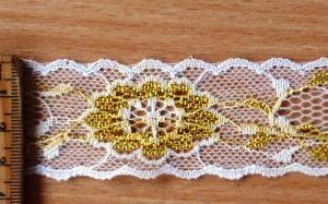 Flat Lace Swanage 3cm Lace Trimming