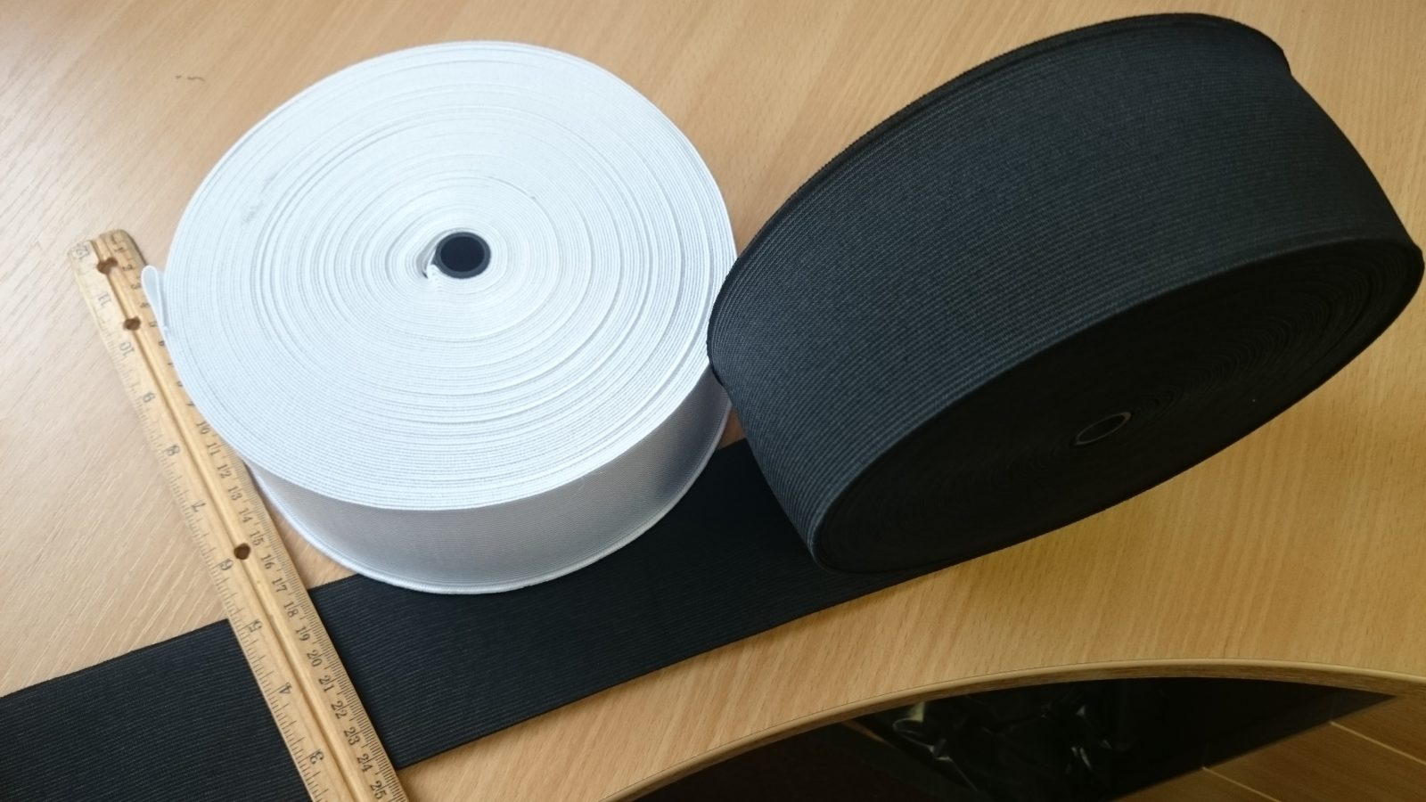 FULL ROLL 25 metre roll 25mm wide WHITE ELASTIC sold in 25 metre lengths