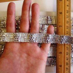 1.6cm Silver Metallic Braided TrimCode 721-2