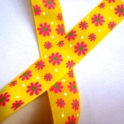 "Ribbon 1"" Wide Sunflower Yellow"