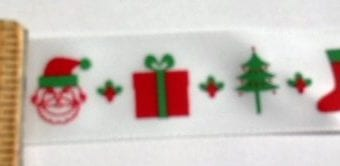 Christmas Ribbon 2cm Wide Christmas Boot