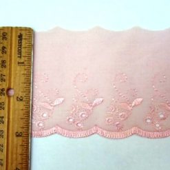 "3"" Broderie Anglais Flat Lace Trim"