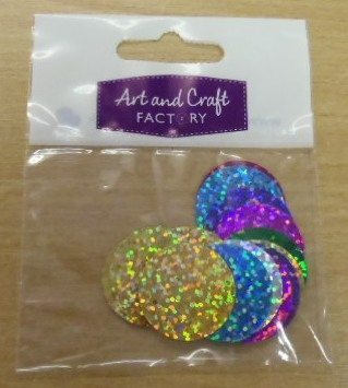 Large Round Sequins in Packets Multi Coloured