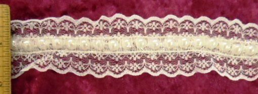 Mary Rose Beaded Scalloped Lace Trimming 4cm