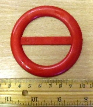 5cm Round Buckles Red