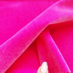Cerise Lycra Spandex Velvet Velour