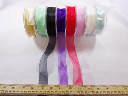 25mm organza ribbon