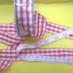 25mm Gingham Ribbon
