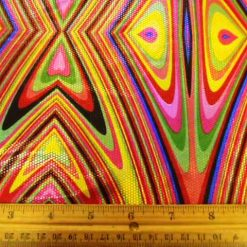Lycra Patterned Yellow Aztec Punch