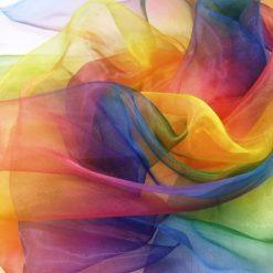 Organdie 100% Polyester Rainbow
