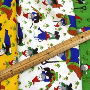 Garden Gnomes Cotton Fabric