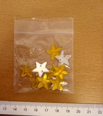 Gold Jewels Sew On Stars