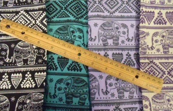 Titi caca elephants cotton fabric