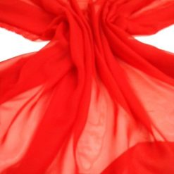 Polyester-plain-chiffon-red