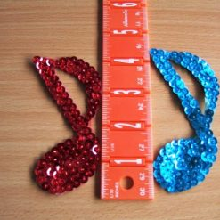 Sequin Motif Single Music Notes
