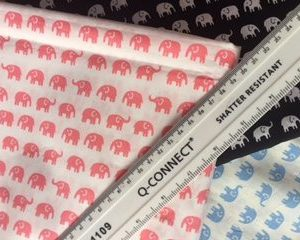 Elephants Tiny Cotton Fabric