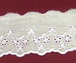 White Amsterdam Broderie Anglais Flat Lace Trim
