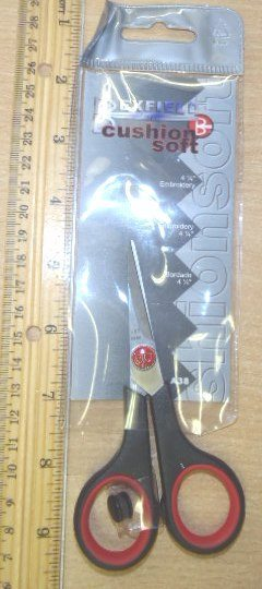 "Bexfield Cushion Soft Scissors 4 1/2"" Embroidery"