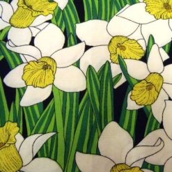 Katie Kandles Floral Doreen Daffodils Print Cotton Fabric