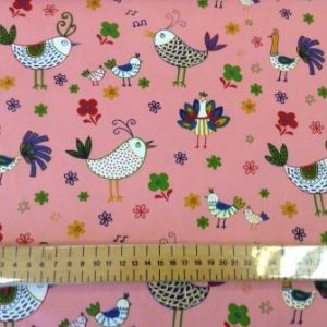 french hens pink cotton