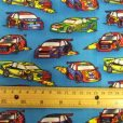 Blue Flash Car cotton fabric