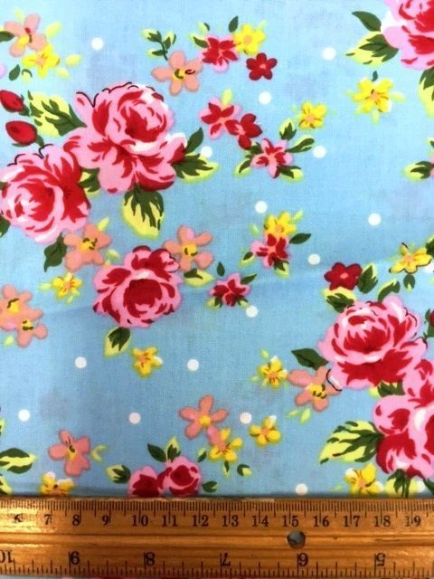 Floral Cotton Fabric Garden Party