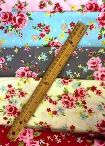 Floral Cotton Fabric Garden Party Fabric Land