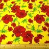 Hawaiian print yellow print cotton fabric