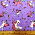 mauve-amazing-unicorns-childrens-cotton-print