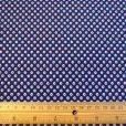 navy lola lupins print cotton