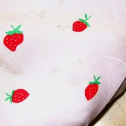 Strawberry Lips Polyester Cotton Fabric