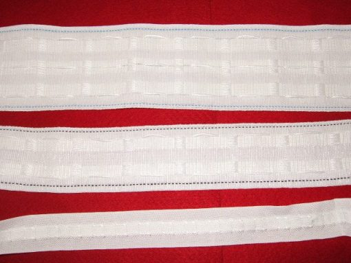 "1"" curtain tape pencil pleat"