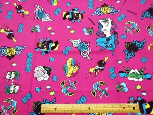 Pink Tattoo cotton print