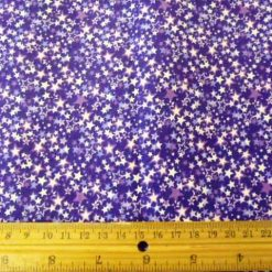 Purple fantasy star print cotton