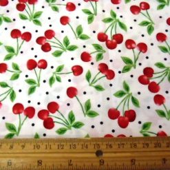 Fruit Cherries Jubilee Cotton Fabric
