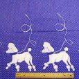 Purple Poodle Jive cotton fabric