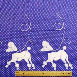 Purple Poodle Jive cotton fabric