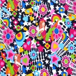 White 70's Hip Chick cotton print