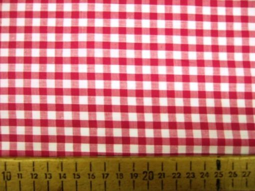 Gingham Polycotton 6mm Red