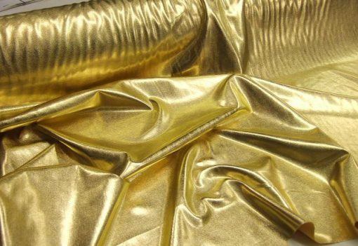 Lycra Patterned Gold Spandex Lightweight Foiled