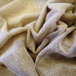 Lycra Spandex Glitter Body Stocking Stretch Mesh Nude/Silver