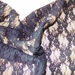Lycra Spandex Langtree Stretch Lace Black
