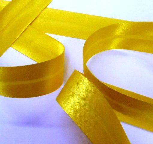 yellow satin bias